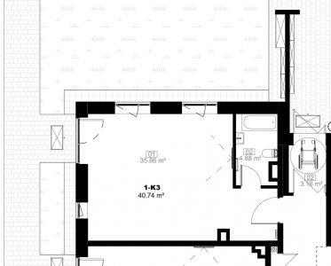 41 m2 komercinės patalpos Tuskulėnų g.