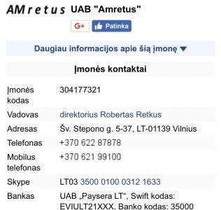Licencijuota pavojingu ir nepavojingu atlieku tvarkymo imone UAB Amretus