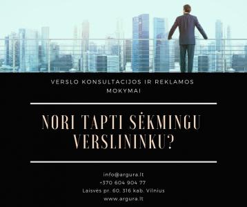 Verslo konsultacijos ir reklamos mokymai (pradininkams ir pažengusiems)