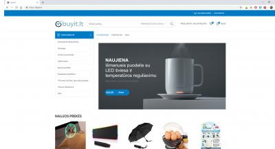 Amazon UK dropshipping'o el.parduotuvė Buyit.lt
