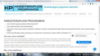 El. prekyba kineziterapijos programomis www.sveikas-stiprus.lt