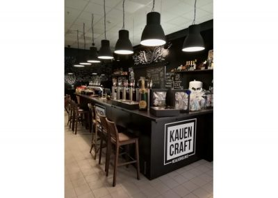 """Parduodamas verslas - Veikianti """"Kauen craft"""" alaus krautuvėlė-baras"""
