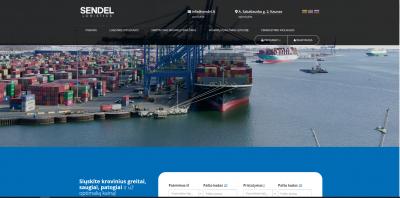 Logistikos ir siuntų pervežimo platforma, svetainė
